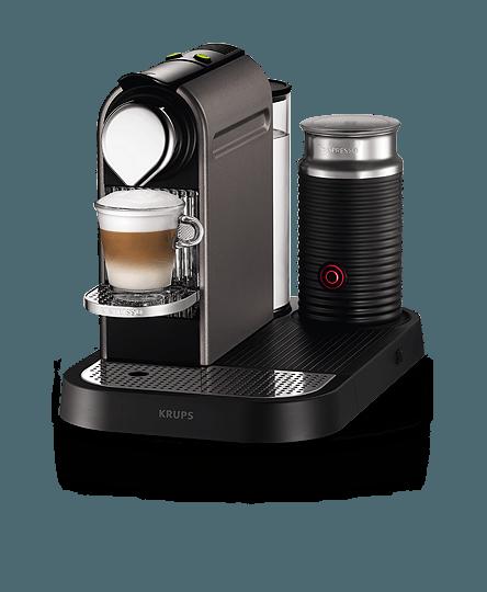 Nespresso Krups CitiZ & Milk Titanium Coffee Machine