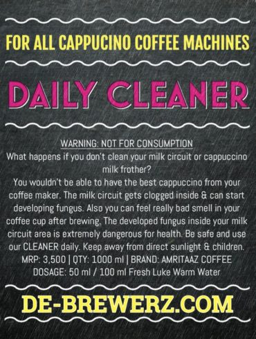 Cappuccino Daily Milk Frother Circuit Cleaner by Amritaaz Coffee – Bulk Buy