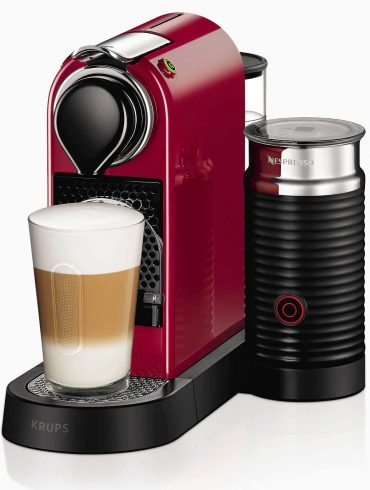Nespresso RED CitiZ and Milk Pod Coffee Machine by KRUPS