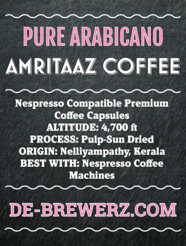 Nespresso Compatible Coffee Capsules by AMRITAAZ COFFEE – PURE ARABICANO