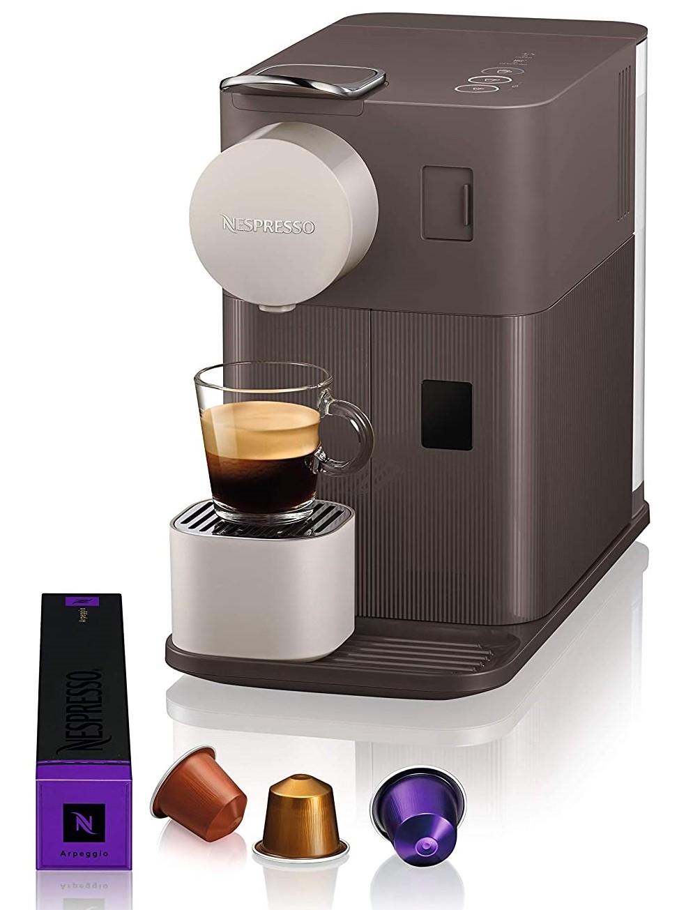 Automatic Nespresso Lattissima Coffee Machine - Mocha Brown