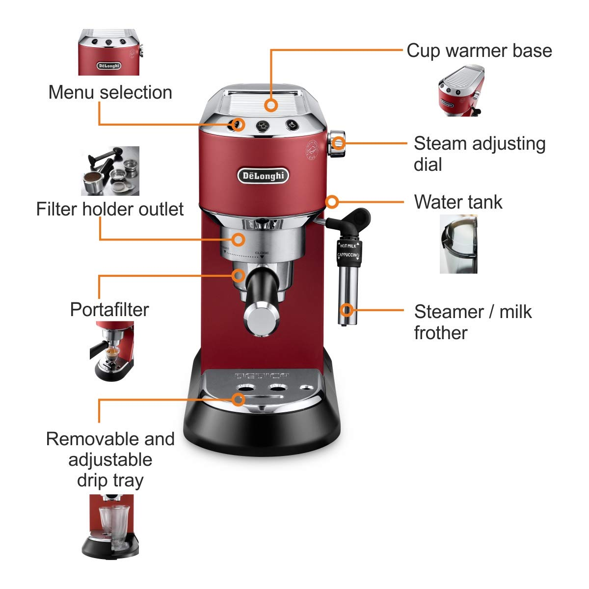 Rent a Delonghi Pump Espresso Coffee Machine - Month Plan