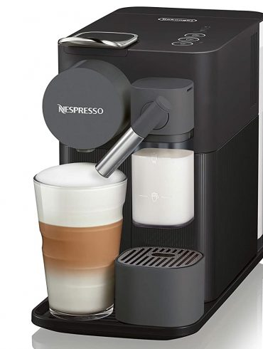 Nespresso Black Lattissima One Original Espresso Machine with Milk Frother by DeLonghi