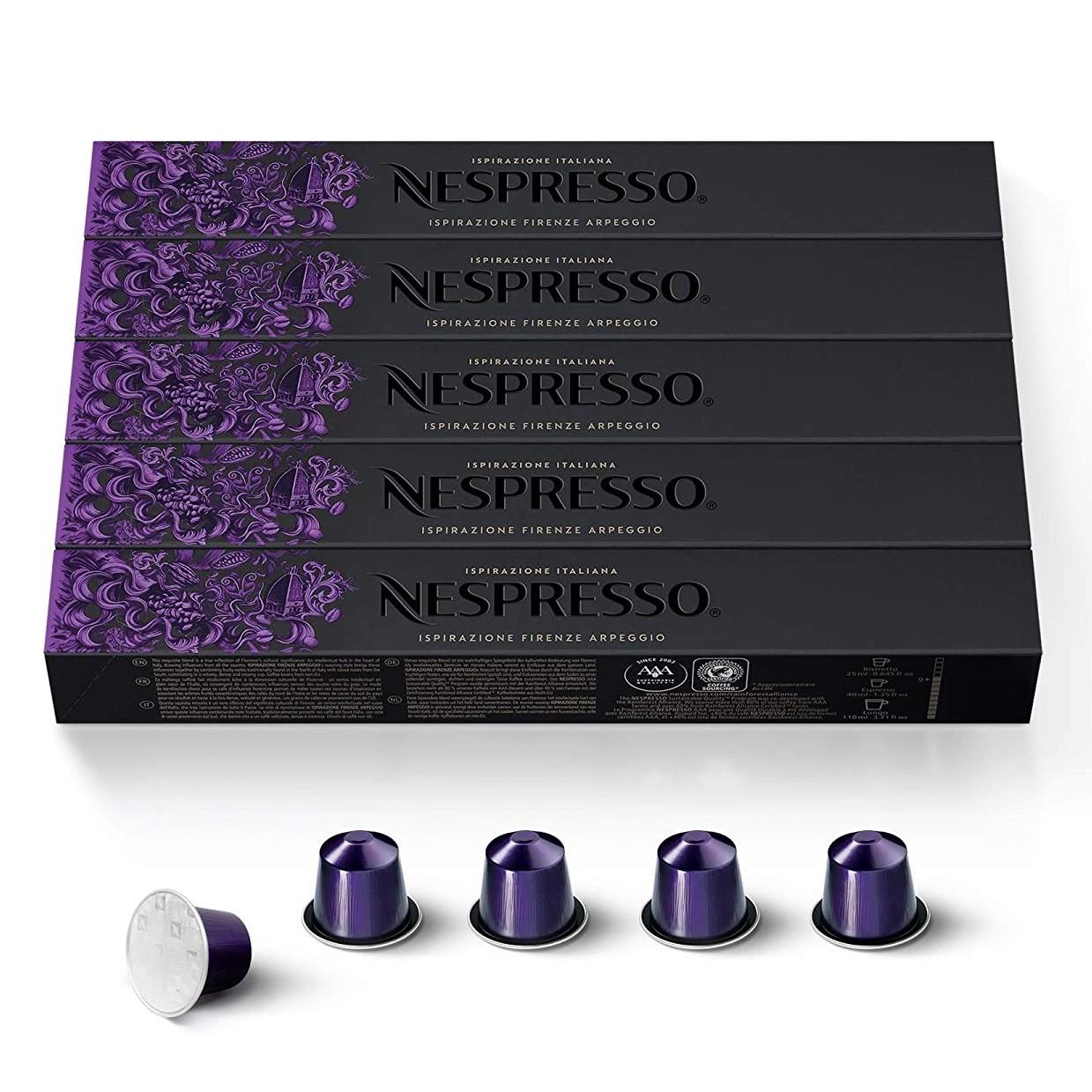 Nespresso Coffee Capsules Ristretto- Dharkaan - Arpeggio- Kazaar - 1000 Coffee Pods Capsules