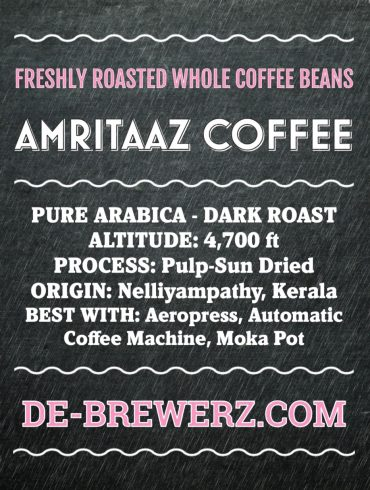 AMRITAAZ COFFEE – Pure Arabica Dark Roast Whole Coffee Beans- 450 gms