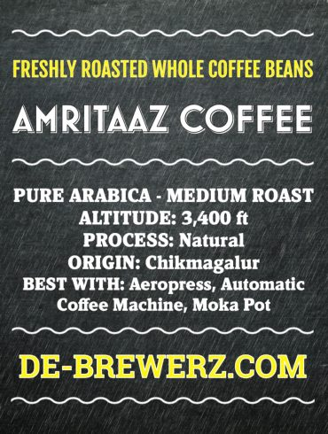 AMRITAAZ COFFEE – Pure Arabica Medium Roast Whole Coffee Beans- 450 gms