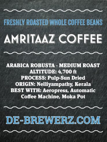 AMRITAAZ COFFEE – Arabica Robusta Mix Blend (70:30) Roasted Whole Coffee Beans- 450 gms