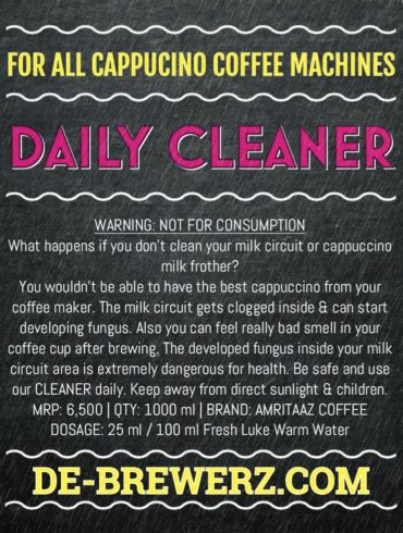 Cappuccino Daily Milk Frother Cleaner by Amritaaz Coffee