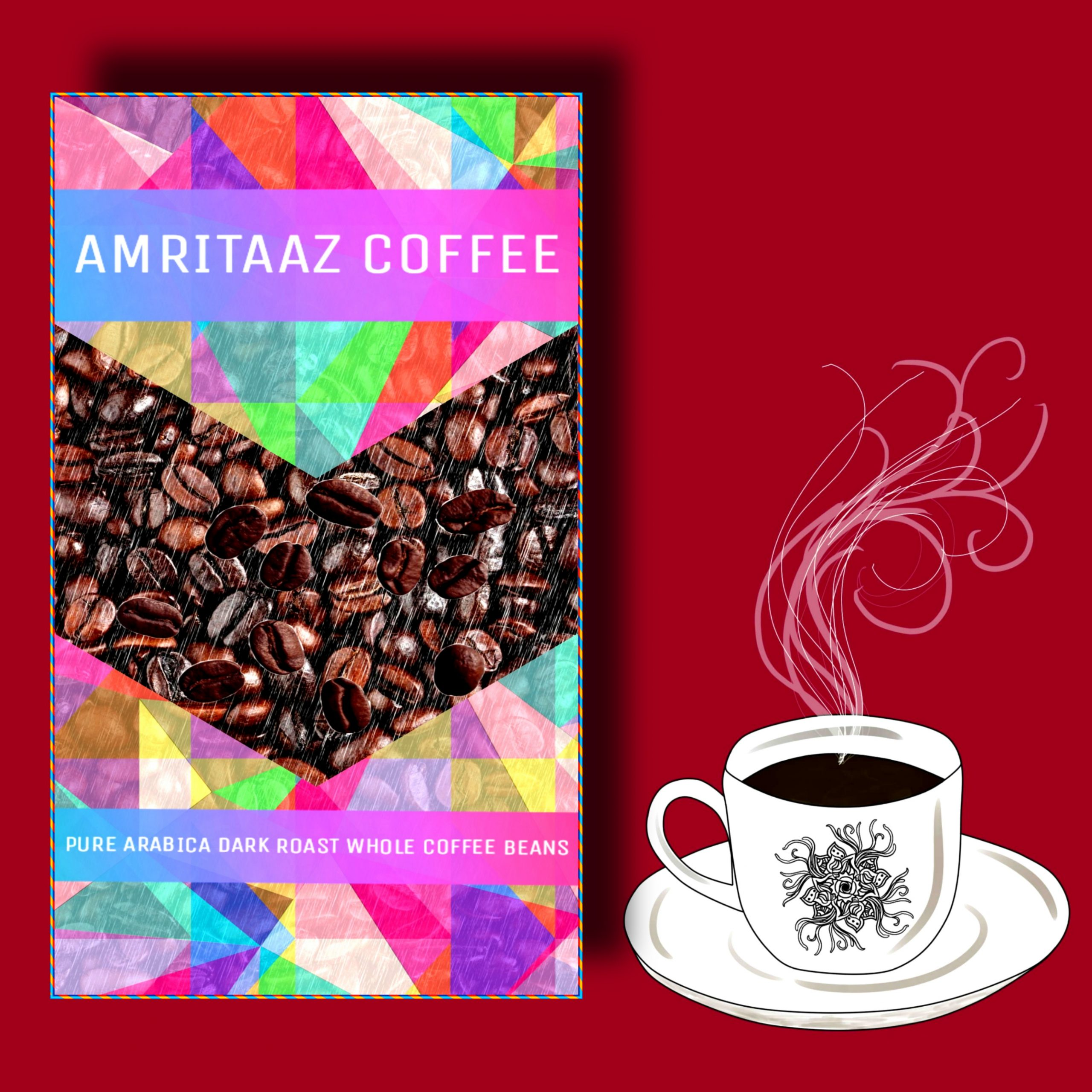 AMRITAAZ COFFEE Pure Arabica Dark Roasted Whole Coffee Beans (5 kgs)